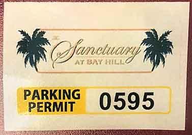 Resident's Parking Sticker